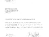 OÖ GKK 2006-2010 Annahme der Bestellung zum Versicherungsvertreter