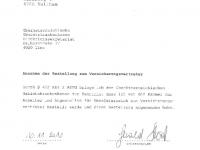 OÖ GKK 2011-2015 Annahme der Bestellung zum Versicherungsvertreter