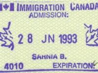 1993 06 28 Kanada - Einreise