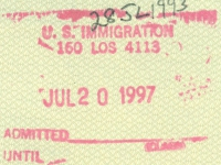 1997 07 20 USA Los Angeles - Einreise