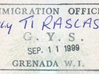 1999 09 11 Grenada - Einreise