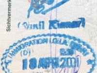 2001 04 18 Indien - Einreise