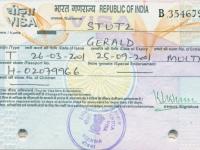 2001 04 18_25 Indien - Visum
