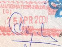 2001 04 25 Indien - Ausreise