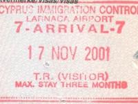2001 11 17 Zypern Larnaca - Einreise