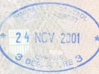 2001 11 24 Zypern Larnaca - Ausreise