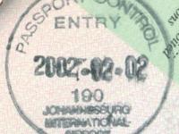 2002 02 02 Südafrika Johannesburg - Einreise