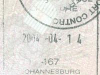 2003 04 14 Südafrika - Ausreise_falscher Jahresstempel
