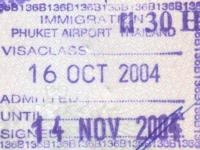 2004 10 16 Thailand Phuket - Einreise