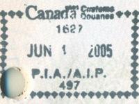 2005 06 19 Kanada Toronto - Einreise