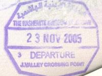 2005 11 23 Jordanien - Ausreise