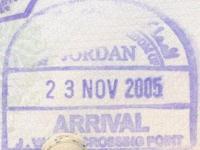 2005 11 23 Jordanien - Einreise