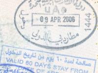 2006 04 09 Vereinigte Arabische Emirate -  Einreise