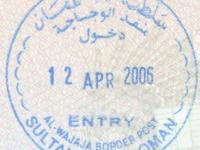 2006 04 12 Oman - Einreise