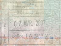 2007 04 07 Marokko Casablanca - Ausreise