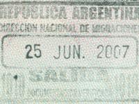 2007 06 25 Argentinien Iguassu - Ausreise