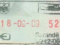 2009 09 18 Albanien Saranda - Ausreise