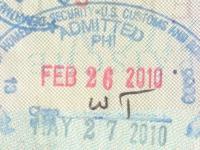 2010 02 26 USA Philadelphia - Einreise