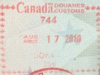 2010 08 17 Kanada Montreal - Einreise