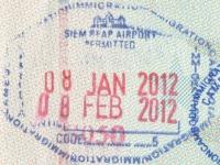 2012 01 08 Kambodscha Siem Reap - Einreise