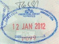 2012 01 12 Kambodscha Phnom Penh - Ausreise