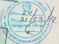 2012 03 24 Belize - Einreise