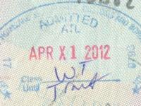 2012 04 01 USA - Einreise