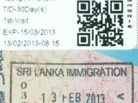 2013 02 13 Sri Lanka - Einreise
