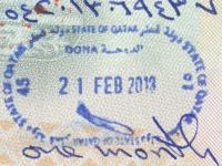 2013 02 21 Katar Doha - Einreise