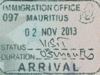 2013 11 02 Mauritius - Einreise