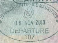2013 11 08 Mauritius - Ausreise