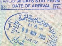 2013 11 09 Vereinigte Arabische Emirate Dubai - Einreise