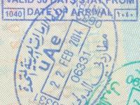 2014 02 22 Vereinigte Arabische Emirate Dubai - Einreise
