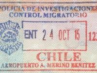 2015 10 24 Chile Santiago - Einreise