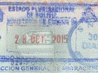 2015 10 28 Bolivien - Einreise