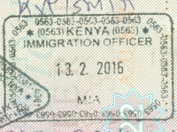 2016 02 13 Kenia Mombasa - Einreise