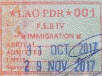 2017 10 31 Laos Chiang Khong- Einreise