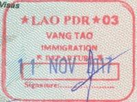 2017 11 11 Laos Chong Mek - Ausreise