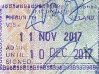 2017 11 11 Thailand Chong Mek - Einreise