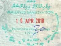 2018 04 10 Malediven - Einreise