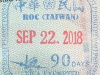 2018 09 22 Taiwan Taipei - Einreise