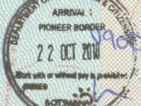2018 10 22 Botswana - Einreise