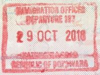 2018 10 29 Botswana - Ausreise