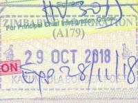 2018 10 29 Simbabwe - Einreise