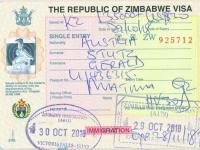 2018 10 29 Simbabwe - Visum