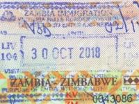 2018 10 30 Sambia - Einreise
