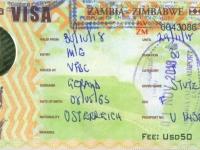 2018 10 30 Sambia - Visum