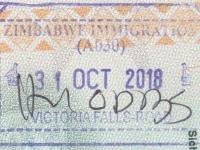2018 10 31 Simbabwe Victoria Falls - Einreise