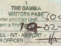 2019 02 10 Gambia Banjul - Visum