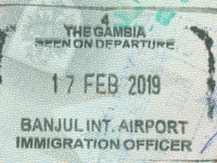 2019 02 17 Gambia Banjul - Ausreise